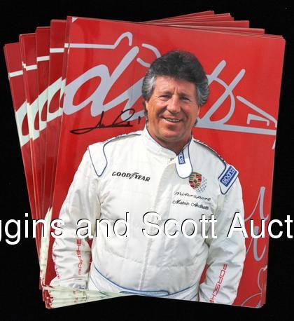 Rules Auto Racing on Auto Racing Autograph Lot   With Andretti Concentration