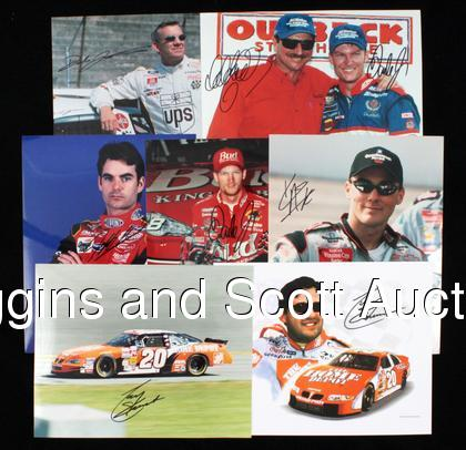 Autographs Auto Racing on Auto Racing Autograph Lot   With Andretti Concentration